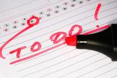 Röd penna — Stockfoto