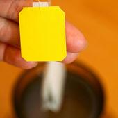 żółte etykiety — Zdjęcie stockowe