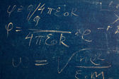 Formulas on blackboard — Stock Photo