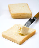 Butter and bread — Stock Photo