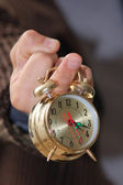 Time on finger — Stock Photo