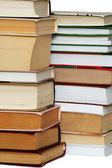 Many books in stacks — Stock Photo