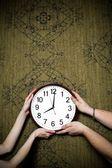 Big clock — Stock Photo