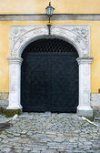 Black iron door — Stock Photo