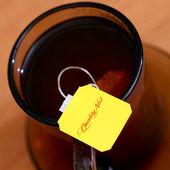 метка чай крупным планом — Стоковое фото