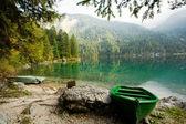 Green boat — Stock Photo