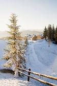 Village in mountains — Stock Photo