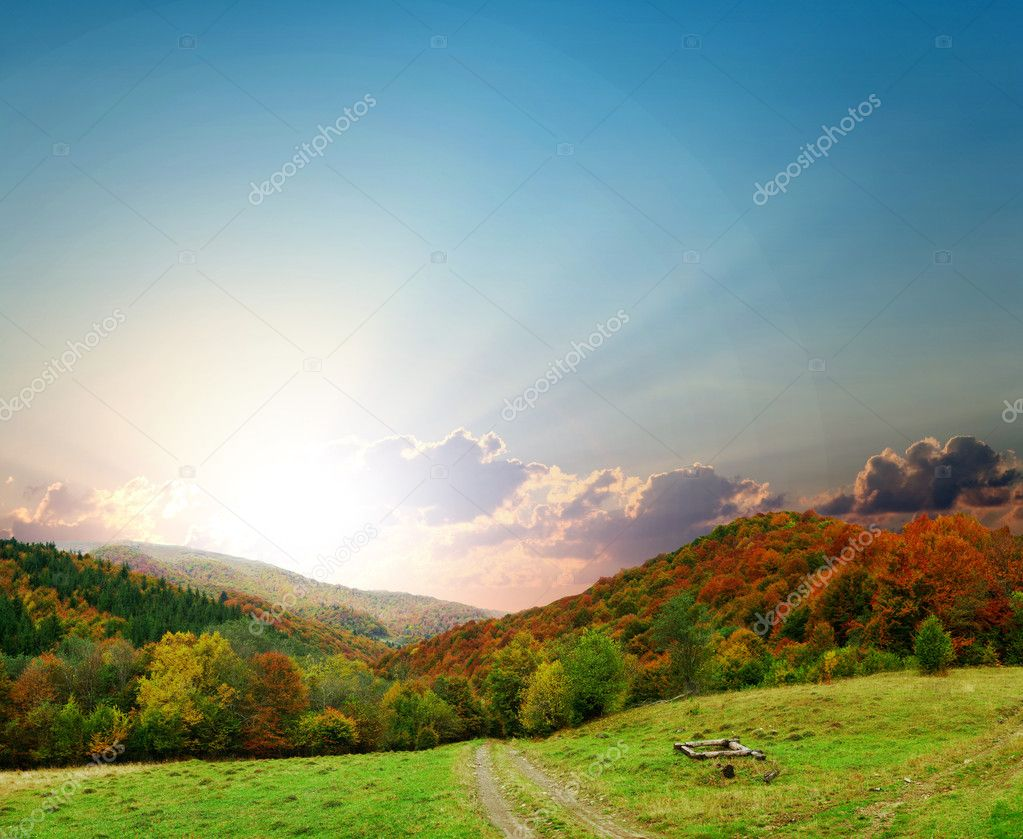 Stock photo: an image of majestic autumn landscape — Stock Photo #8572836
