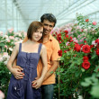 Royalty-Free Stock Photo: Couple in a greenhouse