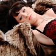 Nice woman in fur — Stock Photo #8581277