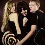 Funny rock band — Stock Photo