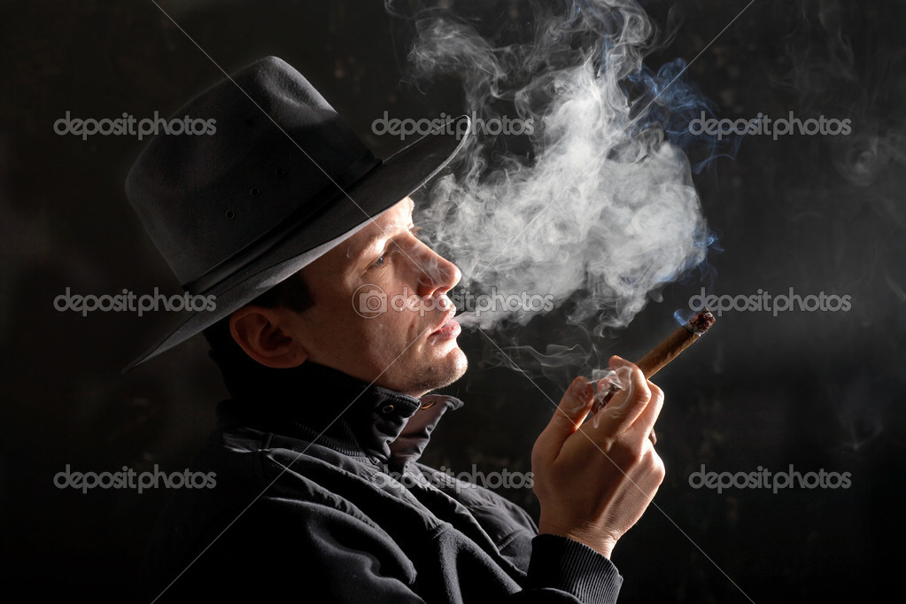 An image of a man in felt hat  Stock Photo #8581790