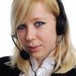 Woman with headphones — Stock Photo #8628681