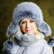 Girl in grey fur hat — Stock Photo #8628807