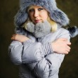 Girl in grey fur hat — Stock Photo #8628815