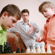 Playing chess - Stock Photo