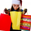 Girl with bags — Stock Photo