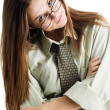 Girl in glasses - Stock Photo