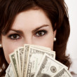 Girl with dollars — Stock Photo #8648128