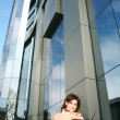 Stockfoto: Girl near building