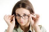 Menina de óculos — Foto Stock
