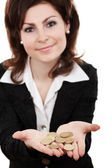 Showing golden coins — Stock Photo