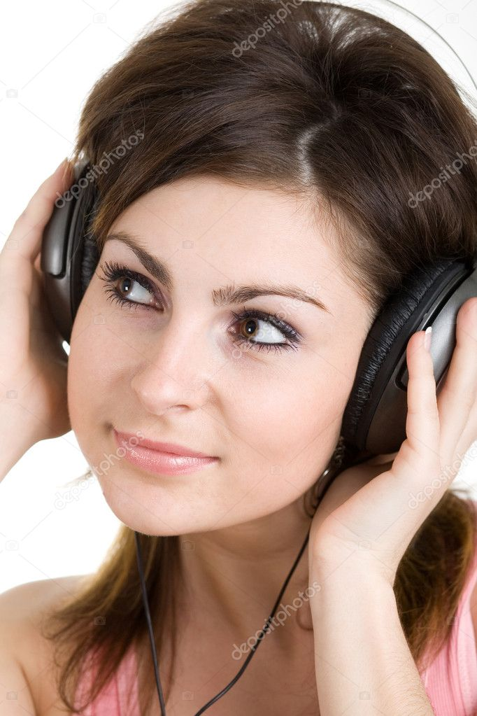 An image of girl listening to music — Stock Photo #8648204