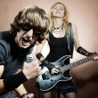 Rock singer — Stock Photo