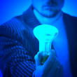 Blue lamp — Stock Photo