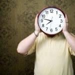 Big white clock — Stock Photo