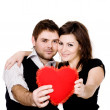 Couple with heart — Stock Photo