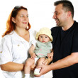 Parents with baby — Foto Stock