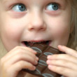 Stock Photo: Girl with chocolate