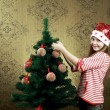 Royalty-Free Stock Photo: Decorating a tree