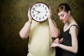 Checking time — Stock Photo