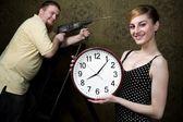 Relógio novo — Foto Stock