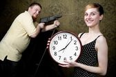 New big clock — Stock Photo