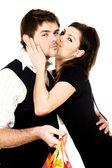 Sanften kuss — Stockfoto