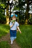 Girl in summer park — Stock Photo