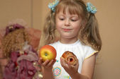 Apple or cake — Stock Photo