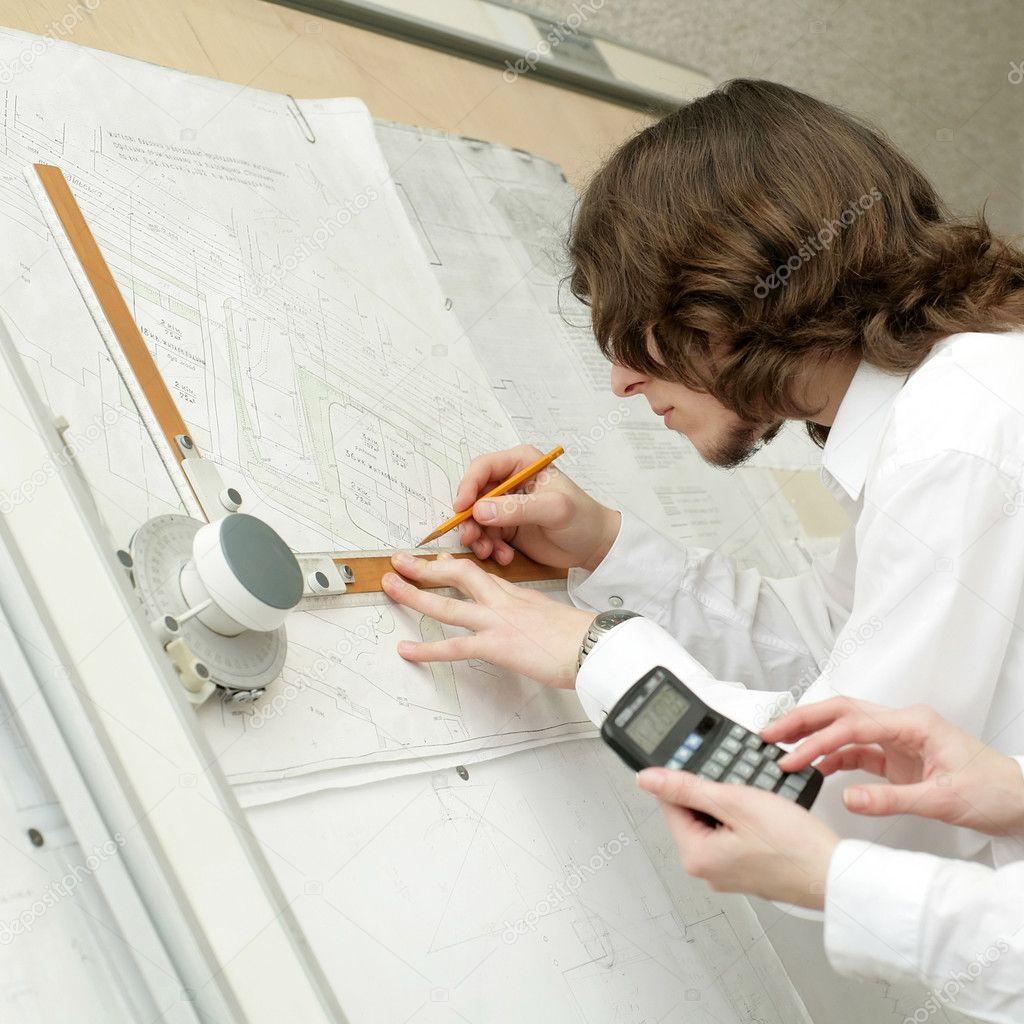 Duro trabajo arquitectos foto de stock velkol 8654313 for Trabajo de arquitecto