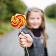 Little girl with lollipop — Stock Photo #8660073