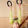 A little gymnast — Stock Photo