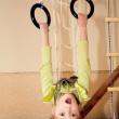 A little gymnast — Stock Photo