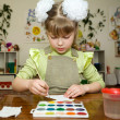 Young talent in the kindergarten — Stock Photo