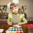 Young talent in a kindergarten — Stock Photo