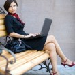 With a laptop — Stock Photo #8661891