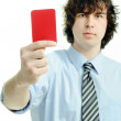 Red card — Stock Photo