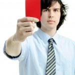 Красная карточка — Стоковое фото