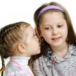 Sisters whispering — Stock Photo